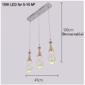 Modern LED Jellyfish Bubble Crystal Pendant Light Minimalist