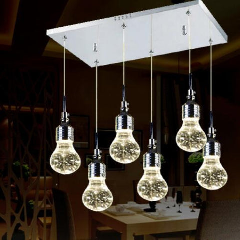 Modern Creative Crystal Bubble Lamp Minimalist Stainless Pendant Light - My Aashis