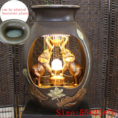 Sitting Room Humidifier Buddha Waterscape Water Fountain - My Aashis