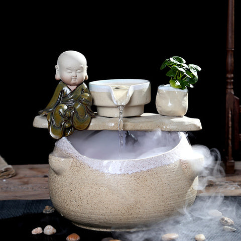 Mini Ceramics Water Fountain Feng Shui - My Aashis