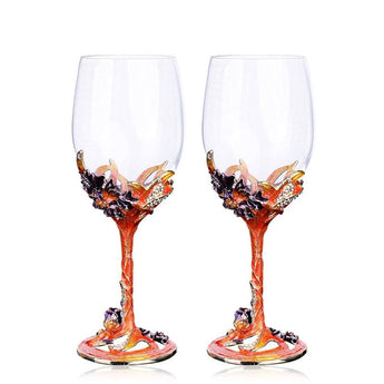 Europe Style Stainless Steel Enamel Color Wine Glass