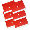 Santa Clause Red Hat  Chair Back Cover Decoracion 2/4/6pcs - My Aashis