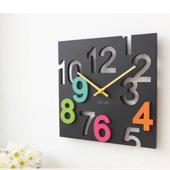 Modern Design 3D Novelty Silent Europe Style Hollow Design Wall  Clock Home Decor