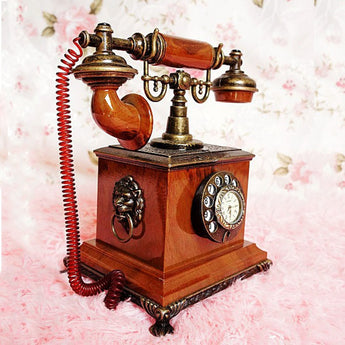 Vintage old iron telephone  luxury home decoration