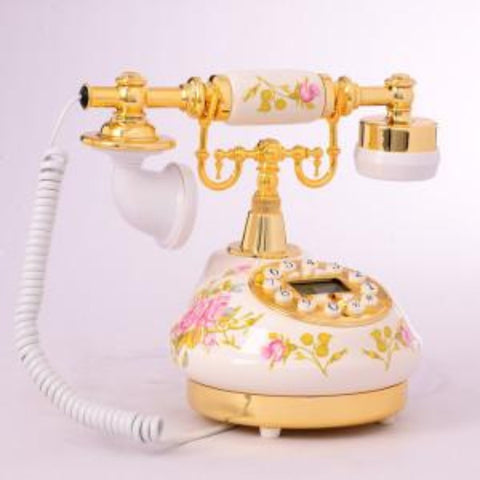 Ceramic antique dial telephone