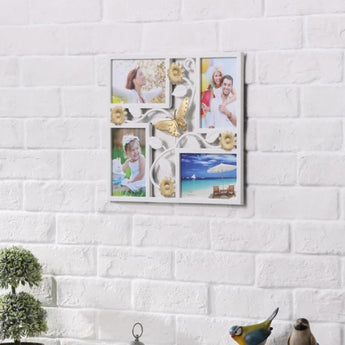 4x6'' White 4 Openings Wall Collage Picture Frame - My Aashis