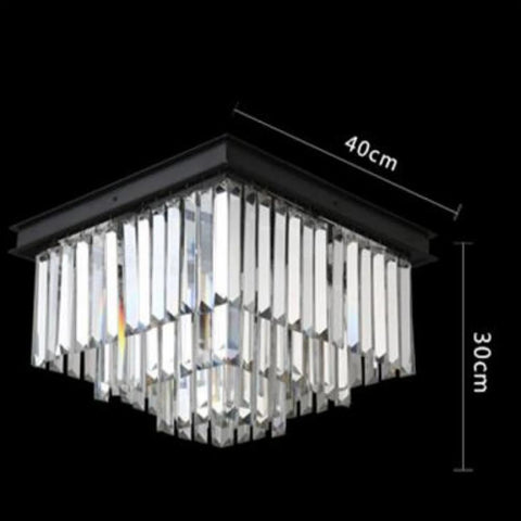 Luxury Rectangle Modern American Crystal Ceiling Lamp For Living Room - My Aashis