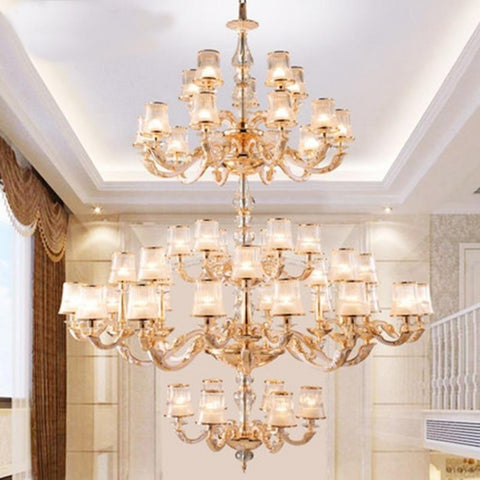 Luxurious Large European LED K9 Crystal Chandelier - My Aashis