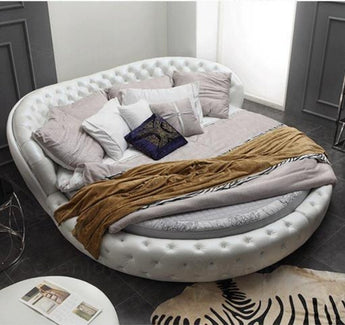 Leather Bed  For Bedroom Furniture - My Aashis