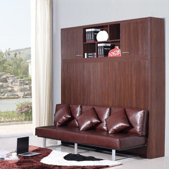 Soft Leather Modern Wall Bed Sofa - My Aashis