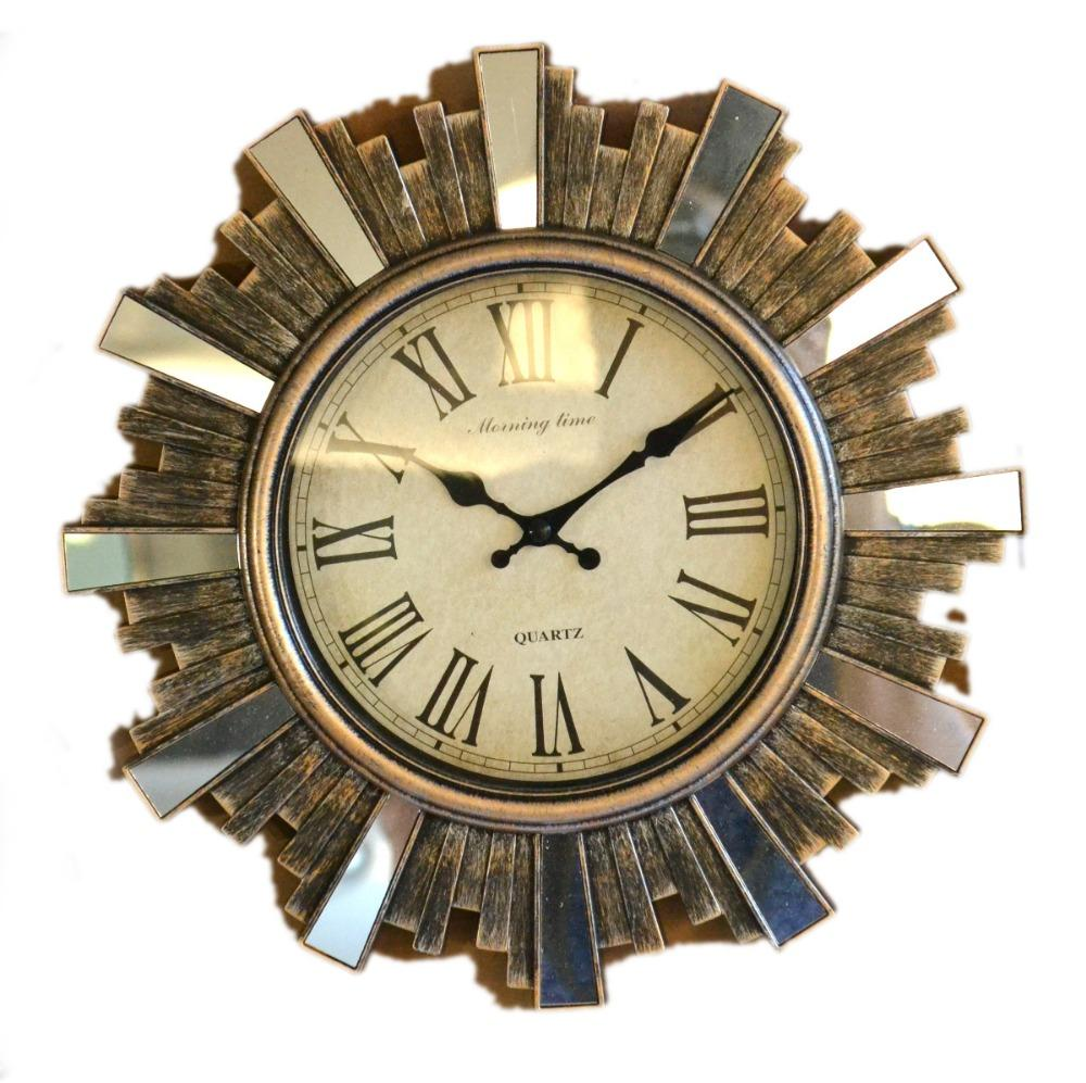 Decorative Wall Clock Mirror Set Home Decorative Items in Living Room