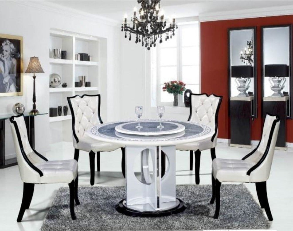 Picture of: Modern Round Shaped Dining Table Set My Aashis