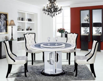 Modern Round Shaped Dining Table Set