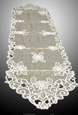 Vintage Cutwork Table Runner - My Aashis