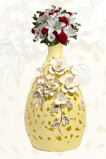 Porcelain Ceramics Flower Vase - My Aashis
