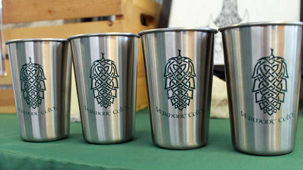 Buy 3 get 1 free!  Stainless Steel Pint Cup - Celtic Hop