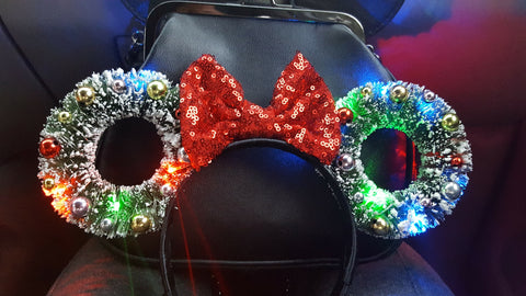 Mini Wreath Ears  ( LED Lights Optional)