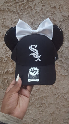 Mouse Ear Team Hat- White Sox