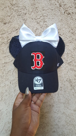 Mouse Ear Team Hat- Boston Red Sox