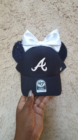 Mouse Ear Team Hat- Braves