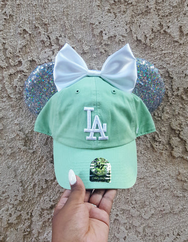 Mouse Ear Team Hat-LA Dodgers Pastel Team Hats