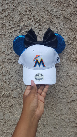Mouse Ear Team Hat- Miami Marlins