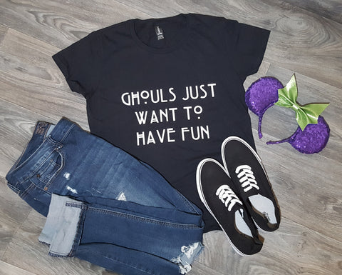 Ghouls Just Want to Have Fun Unisex T-Shirt - Black