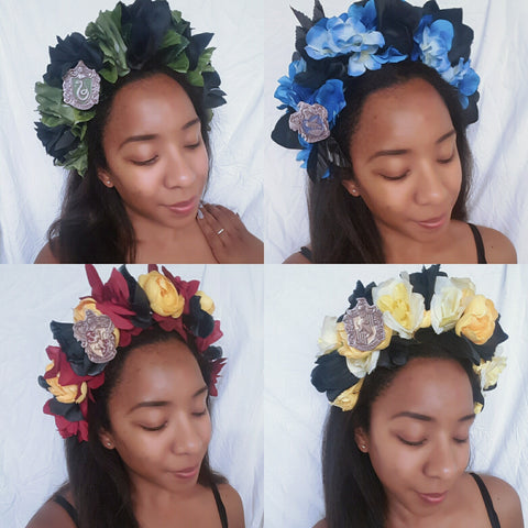 Light Up Hogwarts House Flower Crowns