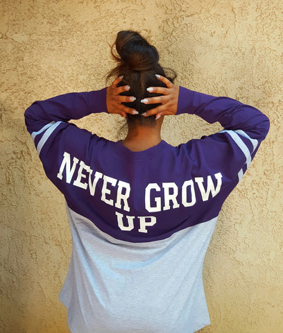 Never Grow Up Shop Jersey Shirt