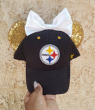 Mouse Ear Team Hat- Steelers