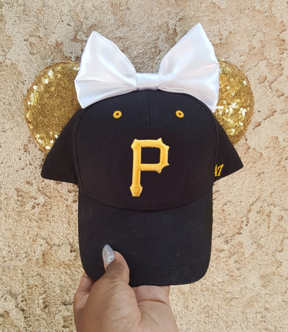 Mouse Ear Team Hat- Pittsburgh Pirates