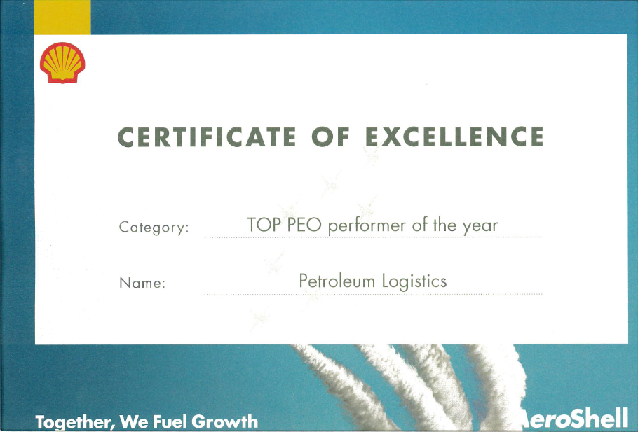 Petroleum Logistics wins top AeroShell award in China