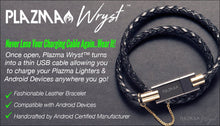 Wryst USB Leather Charging Bracelet