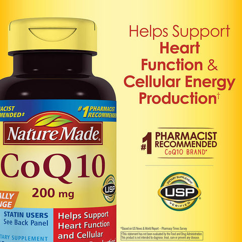 Nature made 辅酶CoQ10 200mg,140 粒