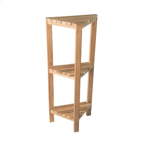 ACC585 ARB SPA Teak - Fiji Collection - Teak Corner Shelf - 3 Tier