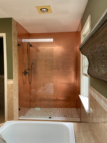 Copper Shower Co. Shower Surround Copper Shower Kit