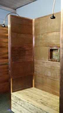 Copper Shower Co. Bathtub Surround Copper Shower Kit