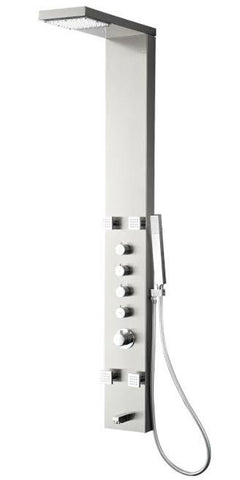Fresca Verona Stainless Steel (Brushed Silver) FSP8006BS Shower Massage Panel - Cloud 9 Shower Heads