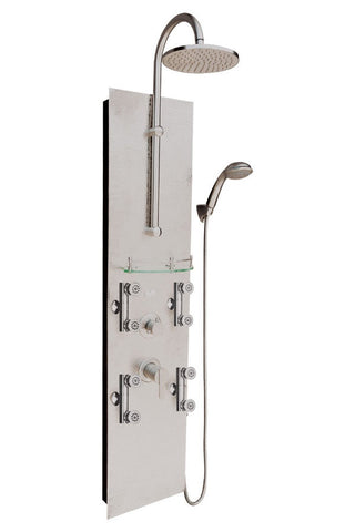 PULSE ShowerSpas Vaquero ShowerSpa 1027 Hammered Nickel Shower Panel - Cloud 9 Shower Heads