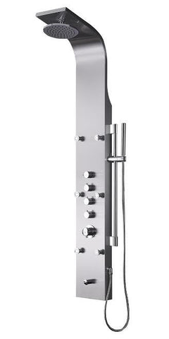Fresca Palermo Stainless Steel (Brushed Silver) FSP8012BS Shower Massage Panel - Cloud 9 Shower Heads