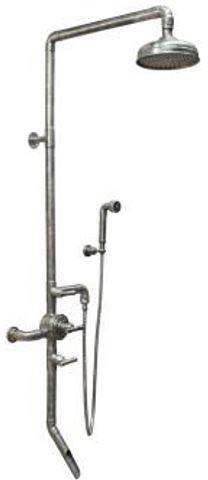 "Sonoma Forge WB-SHW-980 Exposed Thermostatic Outdoor Shower Unit w/ 8"" Rain Head, Tub Filler & Hand Shower"