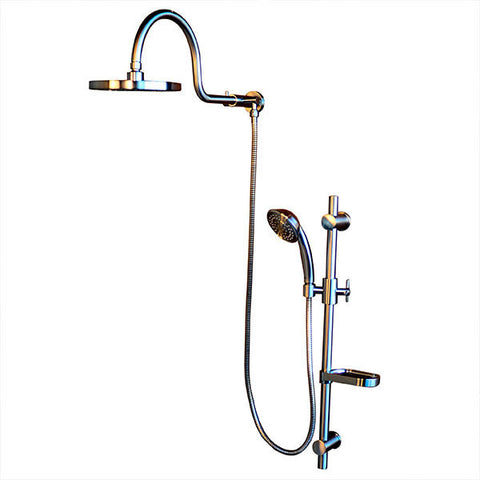 PULSE ShowerSpas AquaRain ShowerSpa 1019-CH Chrome Shower System - Cloud 9 Shower Heads