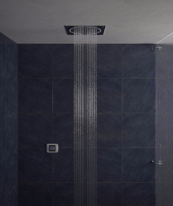 recessed rain shower head. Aquatica Sparkle 11  CRD 400 LED Rain Shower Head Cloud 9 Heads Showers
