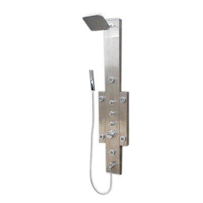 ARIEL 6-Jet Stainless Steel Shower Panel 9041 with Rain Shower Head - Cloud 9 Shower Heads