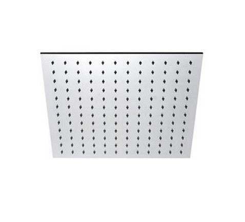 "BLU BATHWORKS TOX430 INOX STAINLESS STEEL 12"" SQUARE SHOWER HEAD SATIN FINISH"
