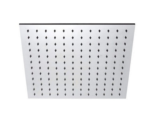 "BLU BATHWORKS TOX440 INOX STAINLESS STEEL 16"" SQUARE SHOWER HEAD SATIN FINISH"