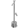 Outdoor Shower Co Cross Handle Foot Shower, Hose Bibb FSFSHB-300-CHV