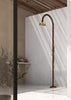 "Outdoor Shower Co FTA-C50R-CHS Single Supply Copper Shower- 8"" Brass Shower Head & Brass Hand Spray"