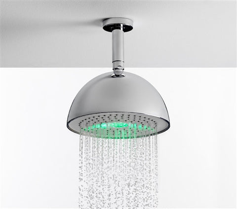 Nikles Shower head Light Round 200 LED rainbow Brushed Nickel