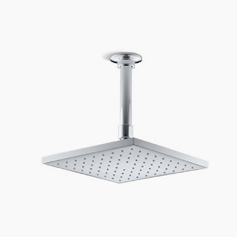 "Kohler Square K-13695 8"" Rain Shower Head with Katalyst® air induction spray - Cloud 9 Shower Heads"